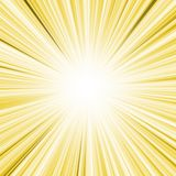 Yellow lightburst Royalty Free Stock Photography