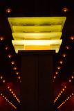 Yellow lighted column Stock Images