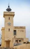 Yellow lighthouse. Cap Malabata, Tangier, Morocco Royalty Free Stock Photos