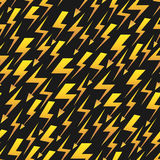 Yellow lightnings black vector seamless pattern vector illustration
