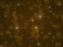 Yellow lights bokeh. Background for themes: holiday Christmas new year in yellow starry lights Royalty Free Stock Images