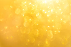 Yellow lights out of focus Stock Photography