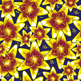Yellow lily of seamless pattern Stock Photos