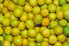 Yellow lime. In the markets Royalty Free Stock Images