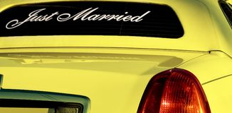 Yellow limo Stock Photo
