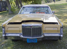 Yellow Lincoln Continental Front view Stock Photos