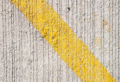 Yellow line on abstract cement texture background. Yellow line  on abstract cement texture background Stock Photos