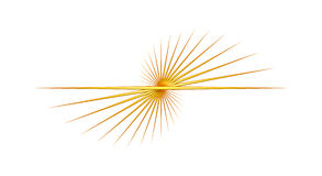 Yellow Line Abstract Twirl Royalty Free Stock Photos