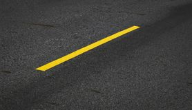 Yellow line on asphalt road. Background Royalty Free Stock Photography