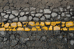 Crack road Stock Images