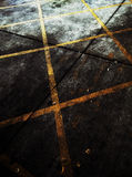 Yellow line on ground Stock Images