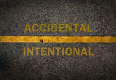 Yellow line on the high way. Royalty Free Stock Photo