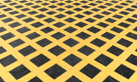 Yellow line on new asphalt detail. On road Stock Images