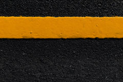 Yellow line on the  road. Yellow line on the new road Stock Images