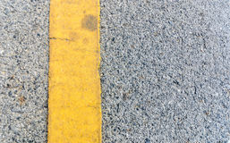 Yellow Line on Ole Street.  Royalty Free Stock Image