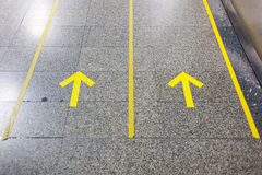 Yellow line Royalty Free Stock Photos
