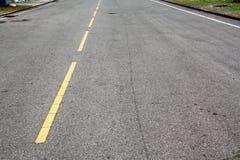 Yellow Line Road Stock Image