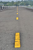 Yellow line on road Royalty Free Stock Image