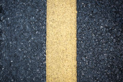 Yellow line on road texture Stock Images