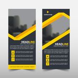 Yellow line roll up business brochure flyer banner design , cover presentation abstract geometric background,. Modern publication x-banner and flag-banner Royalty Free Stock Photo