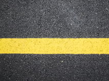 Yellow line sign Stock Photography