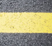 Yellow line sign Stock Photos