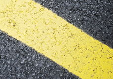 Yellow line sign Royalty Free Stock Images