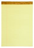 Yellow Lined Legal Pad Royalty Free Stock Photos