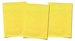 Yellow lined paper isolated on white background Stock Photos