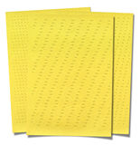 Yellow lined paper isolated on white background Royalty Free Stock Image