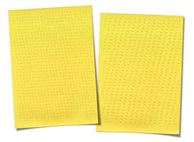 Yellow lined paper isolated on white background Stock Image