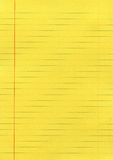 Yellow lined paper Royalty Free Stock Images