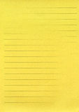 yellow lined paper Stock Image