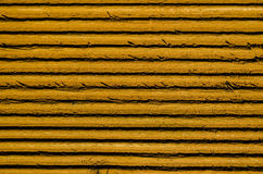 Yellow lined wood. Close up detail of yellow lined wood Royalty Free Stock Photos