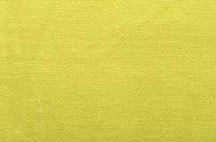 Yellow linen cloth background Stock Photography