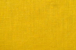 Yellow linen textile. Highly-detailed yellow linen textile background Stock Photos