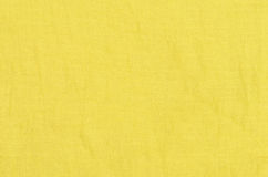 Yellow linen texture background Stock Photos