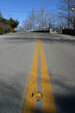 Yellow Lines. Painted on road royalty free stock photo