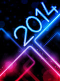2014 Yellow  Lines Background Neon Laser Royalty Free Stock Photo