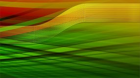 Yellow lines with Curve light effect in Green and Red background Stock Image