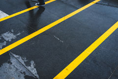 Yellow Lines Stock Photo