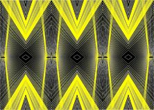 Yellow lines and patterns on a black background Royalty Free Stock Images