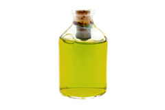 Yellow liquid in the bottle Royalty Free Stock Image