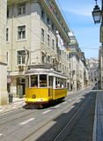 Yellow Lisbon tram Royalty Free Stock Photos