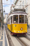 Yellow Lisbon tram 28 royalty free stock photo