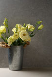 Yellow lisianthus in vase Royalty Free Stock Images