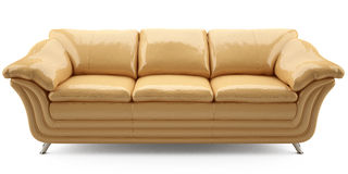 Yellow lither sofa Royalty Free Stock Photos