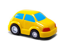 Yellow little car Royalty Free Stock Image