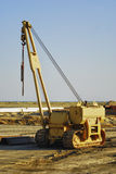 Yellow loader excavator Stock Photos