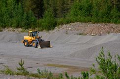 Yellow loader Royalty Free Stock Photography